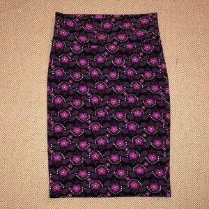 LuLaRoe purple pencil skirt